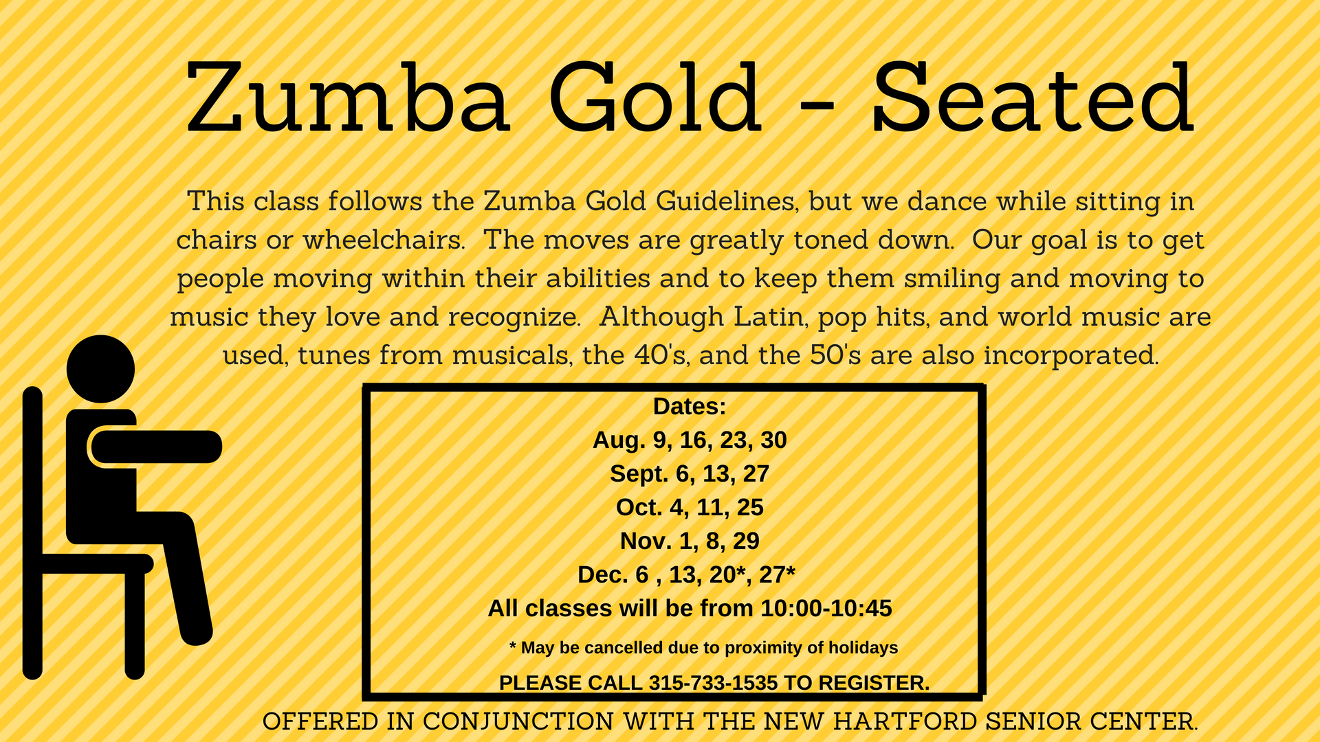 Zumba Gold Seated 1000 1045 New Hartford Public Library